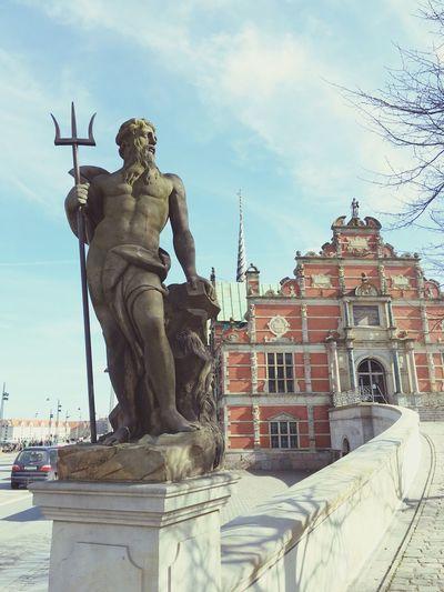 Børsen Statue Copenhagen Copenhagen Tourism Tourists City Staue  Børsen Monument Statue