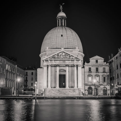 Venice - Basilica di Santa Maria della Salute Building Exterior Built Structure Dome Architecture Night Travel Destinations Sky City Waterfront Travel Illuminated Tourism Water Nature No People Reflection Clear Sky Building Government Architectural Column Neo-classical Church Check This Out