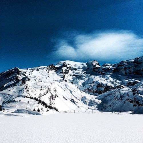 Silence and peace ☺️ Titlis,Switzerland Switzerland Swiss Alps Snow Ice Skyisthelimit Mountains