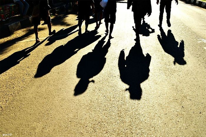 Shadow Sunlight Real People Outdoors Focus On Shadow Medium Group Of People People City Human Body Part EyeEm Best Shots Nikon D5100  Silhouette Photo Of The Day Galleryphotos Indonesian Photographers Collection Streetindonesia Streetphotography Street Photo Nikonindonesia Nikonphotography Baduy Baduyluar Banten Banten Indonesia Travel Destinations