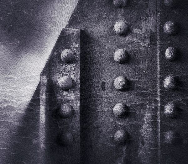 Rivets Close-up Textured  Pattern No People Backgrounds Full Frame Day Wall - Building Feature Shape Wood - Material Solid Bolt Design Built Structure Rough