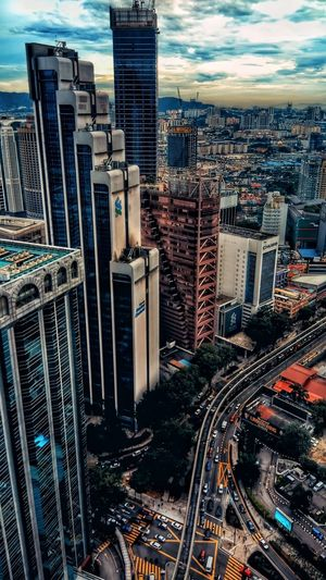 city scape malaysia Architecture Building Exterior Skyscraper High Angle View Cityscape City Built Structure Outdoors Sky Travel Destinations No People Urban Skyline Illuminated Modern Day Mobility In Mega Cities