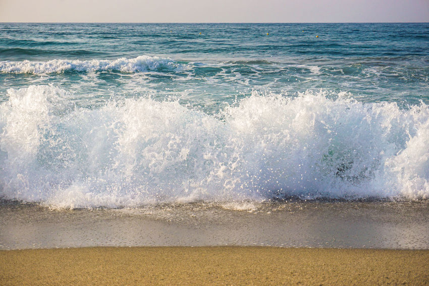 Waves Beach Beauty In Nature Capture The Moment Crete Day Greece Nature No People Sand Sea Shore Summer Surf Travel Travel Destinations Traveling Vacations Water Wave