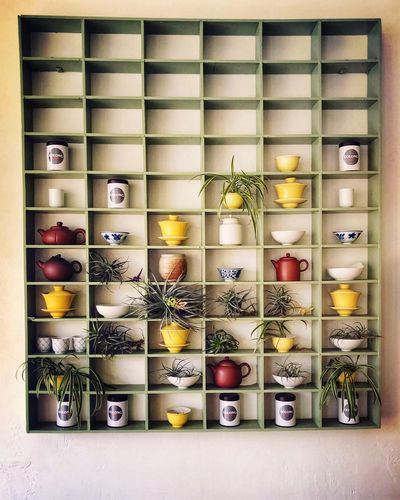Tilandsia Shadowbox Large Group Of Objects Arrangement Indoors  Container Shelf