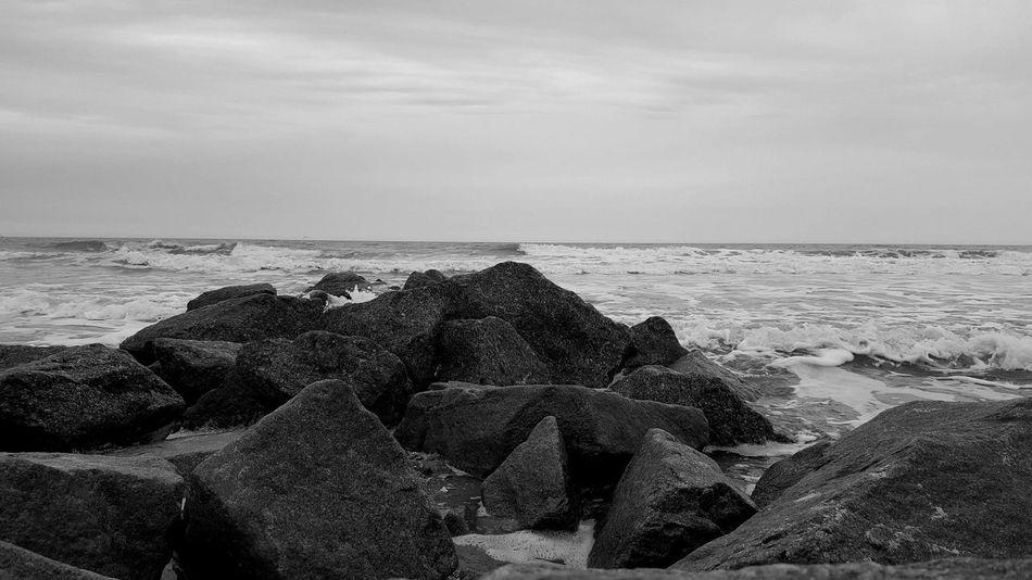 Beach Rock Rocks Water Ocean Waves South Carolina The KIOMI Collection