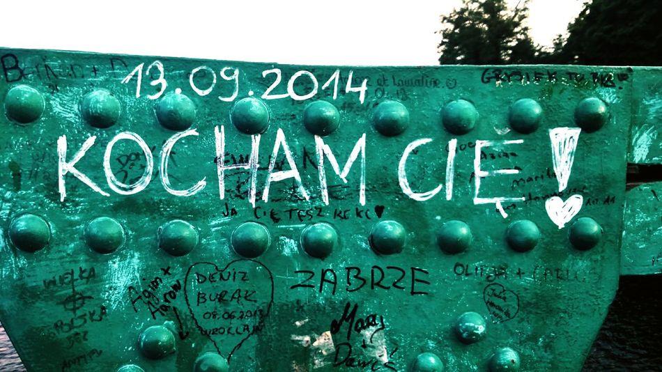 Here again... Love this city! Wrocław Poland Blue Colours I Love You Kocham Cie The Bridge Of Love Most Tumski Most Zakochanych
