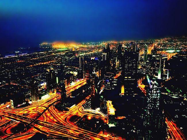Dubai Dubai❤ UAE United Arab Emirates Burj Khalifa City Cityscapes Cityscape Night Nightphotography Night Lights Night Photography Panorama Skyscraper Skyscrapers Nightshot IPhoneography Bright Light Highway Arabia Building Aroundtheworld EyeEm Best Shots EyeEm Gallery EyeEm Best Edits