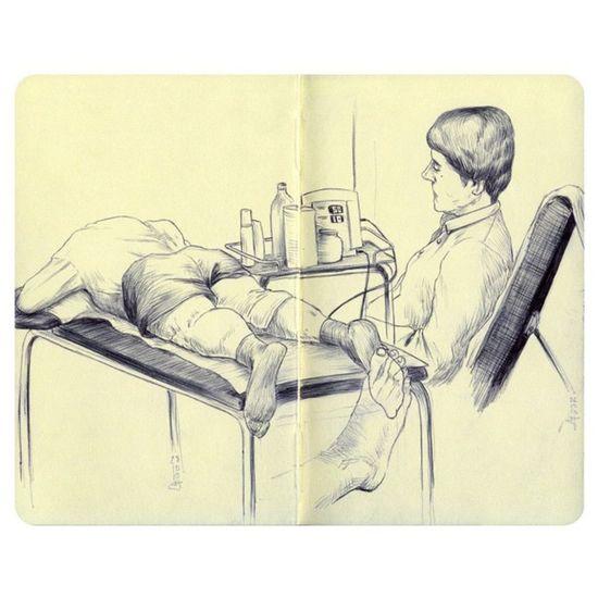 Rehab sketches Rehab Bic Boli Biro Drawing Illustration Sketchbook Pen Sketch Moleskine Dibujo Ilustracion