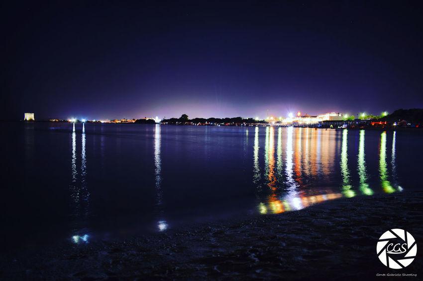 Reflection Night Water No People Sky Outdoors Illuminated City Beachphotography Beach Beachporn Night Life Night Out Nightlights