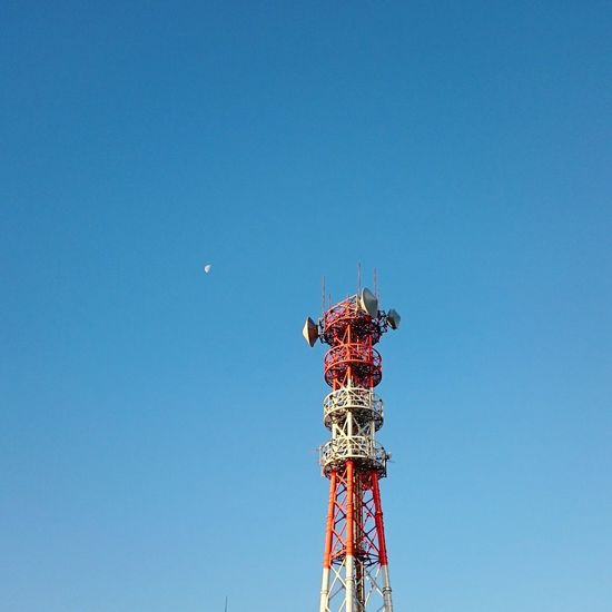 Irontower Blue Sky Moning Ride Mobile Photography