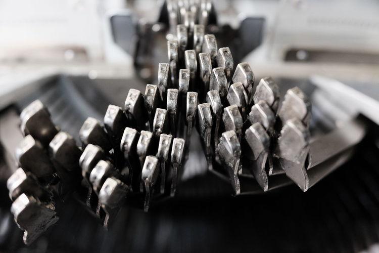 Details of an old typewriter