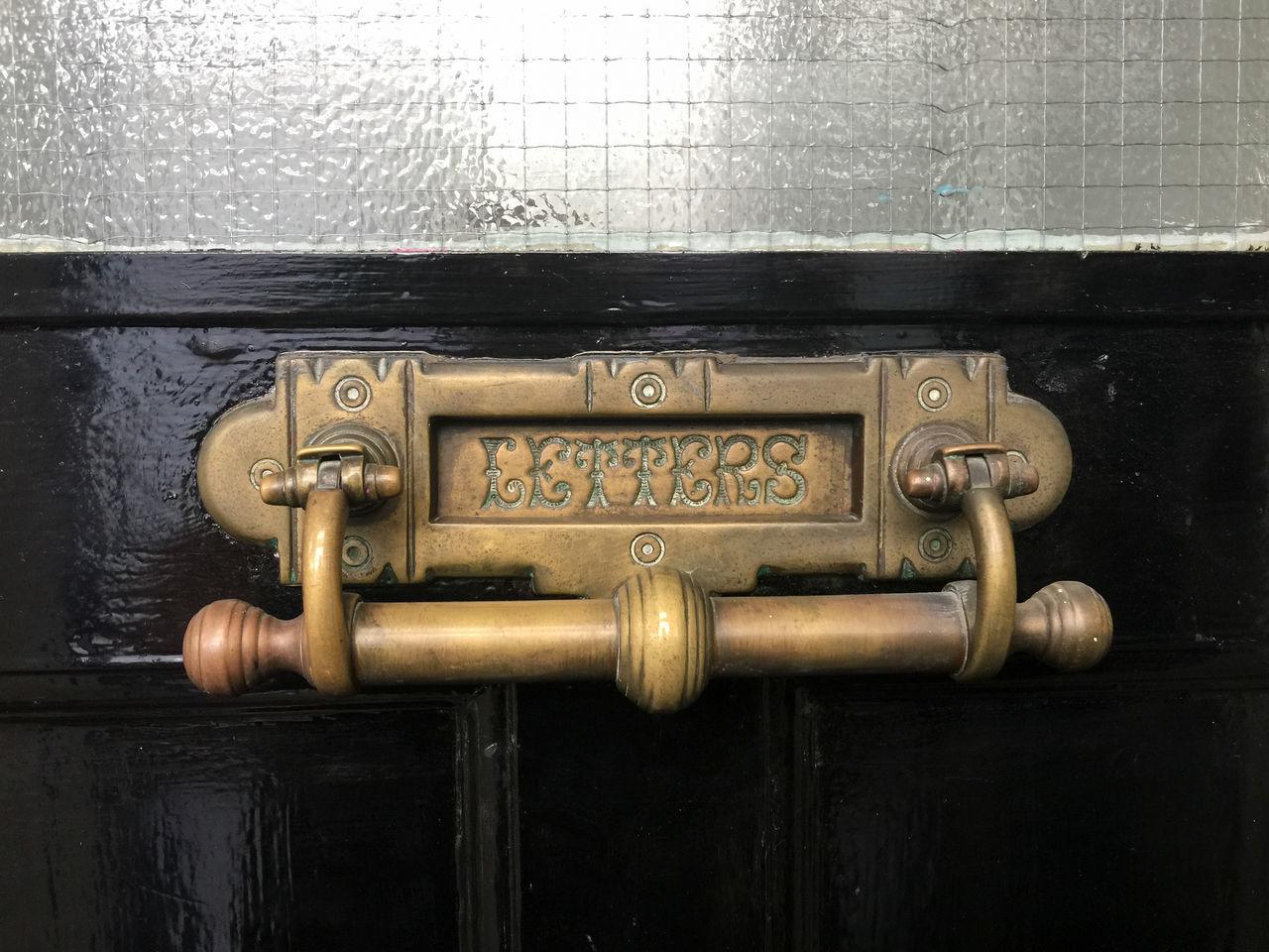 metal, close-up, door, day, no people, indoors