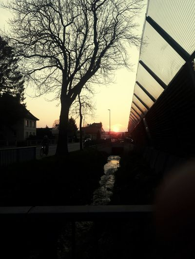 sunset in