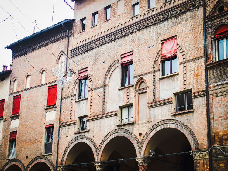Piazza San Stefano - architectual transformation Arch Architecture Brick Building Building Exterior Built Structure Change Culture Exterior Façade Historic History Medieval Outdoors Palace Palazzo Transformation Window