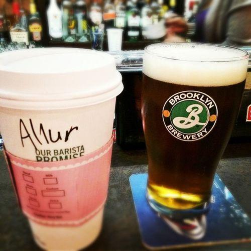 NYC Pennstation Pregame Starbucks Brooklyn Beer ? FTW Breakfast GameDay