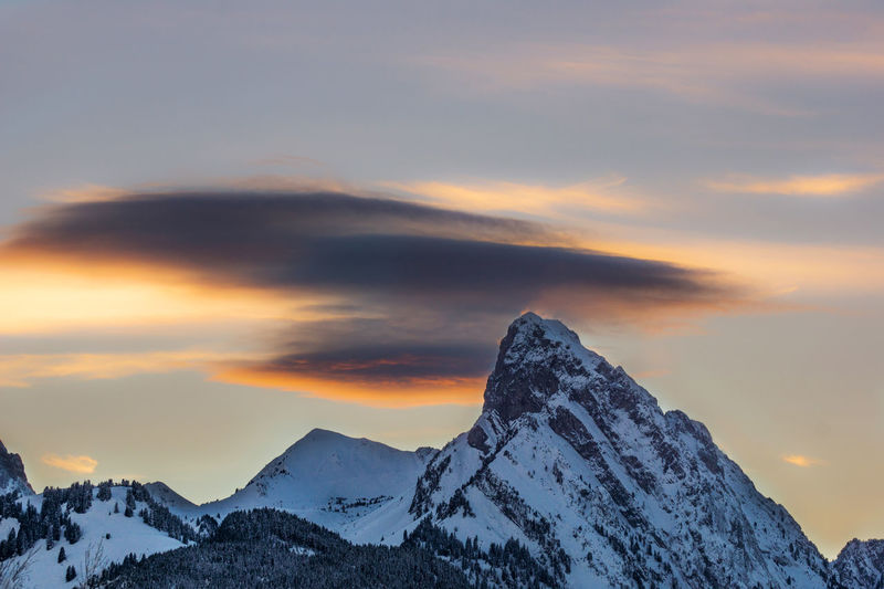 Sunset and Rüblihorn Afternoon Cloud Orange Sky Shades Of Winter Winter Wintertime Beauty In Nature Cold Temperature Long Exposure Mountain Mountain Range Nature Outdoors Scenics Sky Smooth Snow Sunrise Sunset Tranquil Scene Tranquility Weather Winter Winter Sunset Winter Wonderland