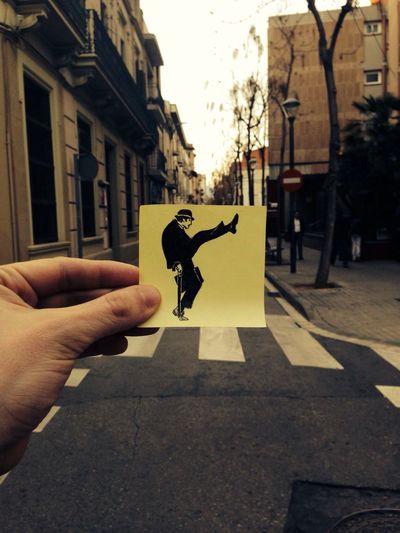 The Return of thepostitdays Postits Silly Walks Monty Python Street Art