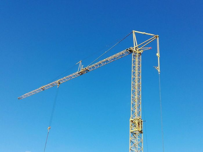 EyeEm Selects Blue Clear Sky Crane - Construction Machinery Day Outdoors No People Sky Industry