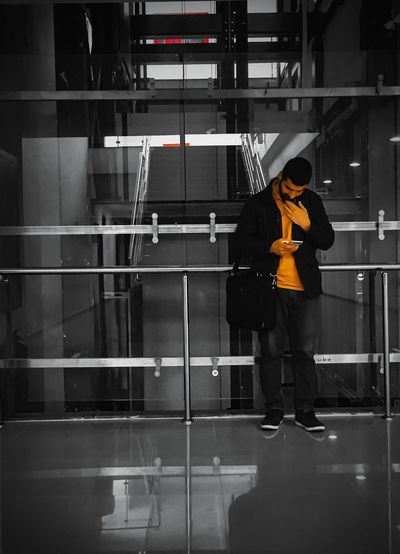 Black And Orange PhonePhotography Humaningeometry Men Real People Library First Eyeem Photo
