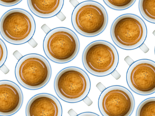 People need a coffee Break Breakfast Brown Brunch Coffee Coffee Break Coffee Cream Coffee Cups Coffee Time Cups Decaffeinated Decafinated Drink Espresso Food And Drink Italian Coffee Meeting More Coffee No People Still Life Texture Wake Up White Background