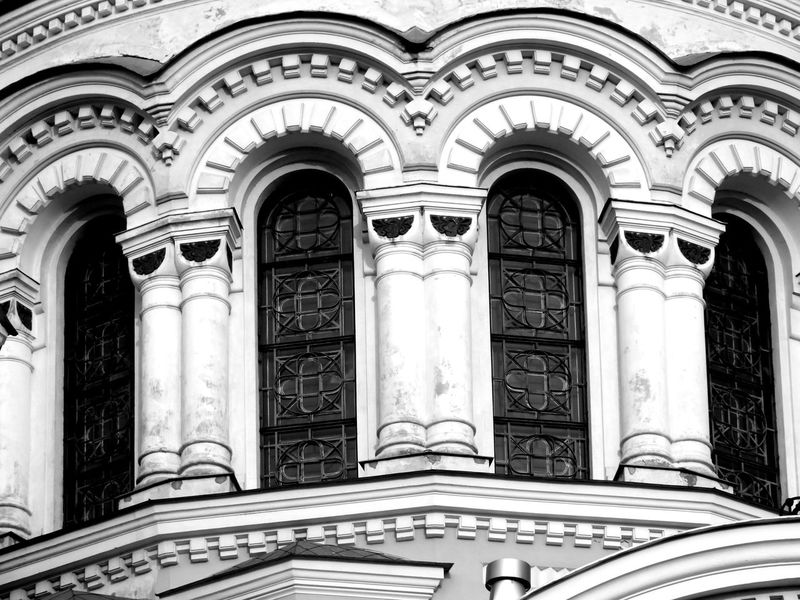 Architectural Column Architecture Balck And White Built Structure Close Up Column Culture Day Indoors  Lithuania Ornate Perspective Religion Soboras White And Black Window