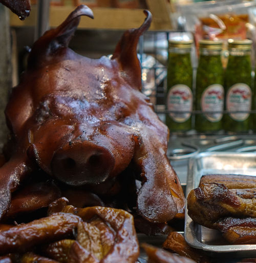this little piggy Chinatown, Bangkok Close-up Deep Fried  Food Macro No People Pig Streetphotography Visual Feast