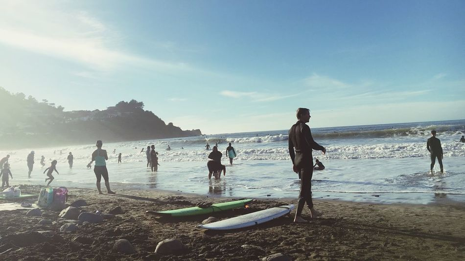 Surf's Up Beach Surfer Ocean Sun Sunkissed Pacifica Beach