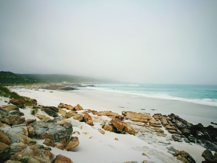 The forgotten beaches of Cape Town,South Africa Part1. Platboombeach, Cape Point Tranquil Scene Tranquility Beauty In Nature Beach Outdoors Travel Destinations Fog