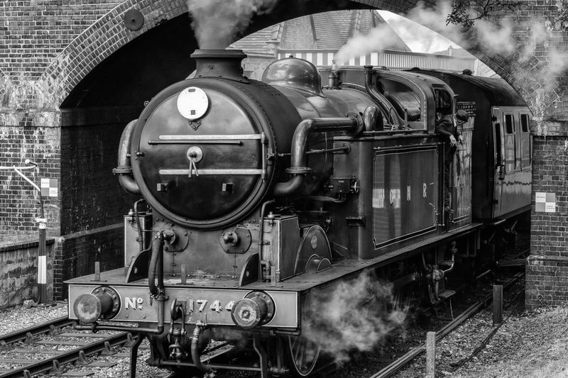 Steam train leaving Weybourne Station, North Norfolk, taken at ISO400, 62mm, f/9.0, 1/100 sec North Norfolk Railway Steam Black And White Collection  Black And White Photography Engine Locomotive Mode Of Transportation Public Transportation Rail Transportation Railroad Track Retro Styled Steam Steam Locomotive Steam Train Steam Train Black And White Stream Train Track Train Train - Vehicle Transportation Vintage Train