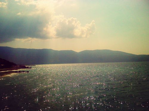 beautiful view water reflection, Vlore, Alba Beautiful View Mountain Landscape Scenics Tranquility Nature Beauty In Nature Sky Tranquil Scene Outdoors No People Mountain Range Cloud - Sky Water Sea Day
