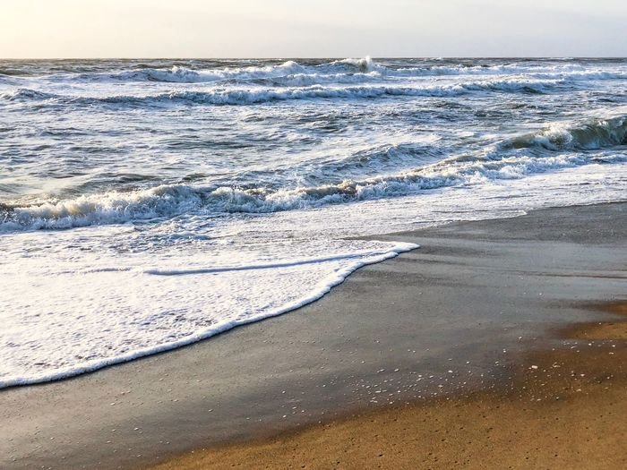 North Sea in Denmark Waves, Ocean, Nature Beach And Sky Holiday Northsea Beach Land Water Beauty In Nature Sea Tranquility Scenics - Nature Nature Wave Sand No People Horizon Over Water Motion Cold Temperature Outdoors