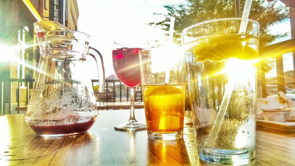 Summer, Sunset, Summersunset, Drinks, Sangria , Supper , Wallpaper, Sweettea , Food Food And Drink Tea Table Teatime Meal Date Datenight Fancy Food Romantic EatOut Restaurant Water Dine Dinner Friday Chill