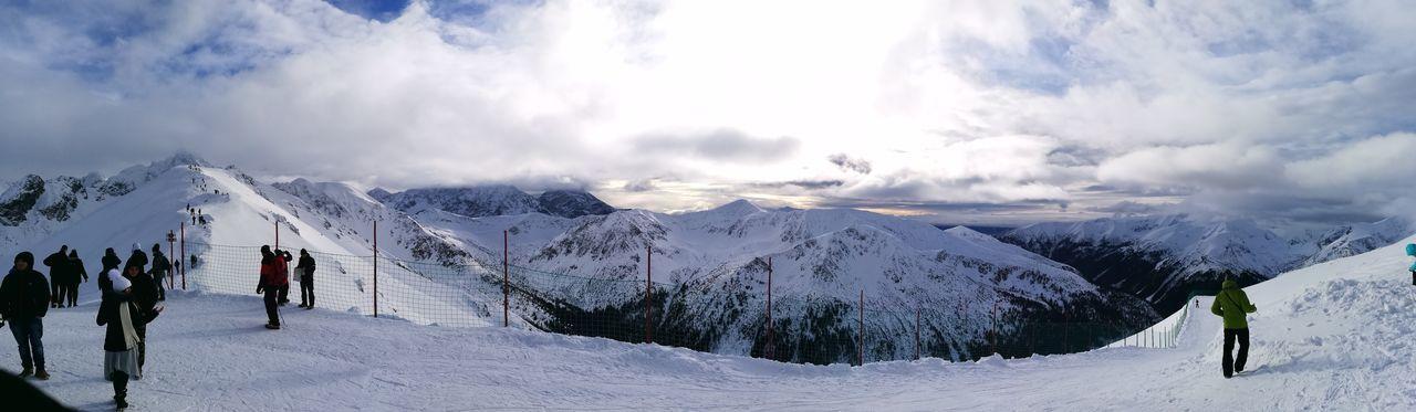 Kasprowy Wierch, Poland Mountain People Sky Winter Adventure Ski Holiday Landscape