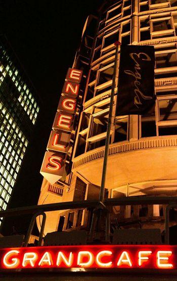 Rotterdam Netherlands Holland Building Engels Grandcafe Neon Lights Cities At Night The Architect - 2016 EyeEm Awards