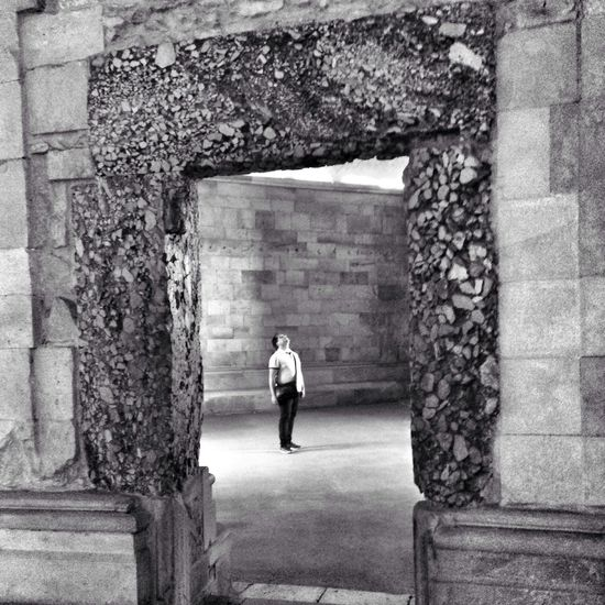 At the Castel de Monte waiting for a sign Streetphotography Shootermag Mypugliaexperience Blackandwhite