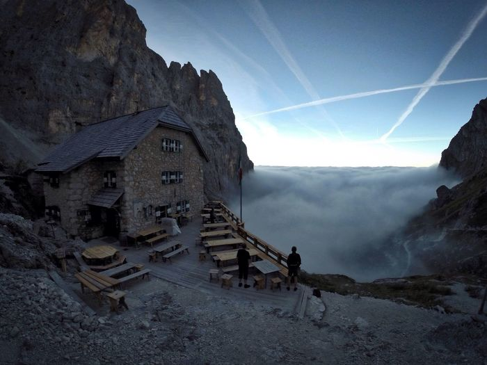 Cloudporn Langkofel Langkofelhütte Rifugio Vicenca