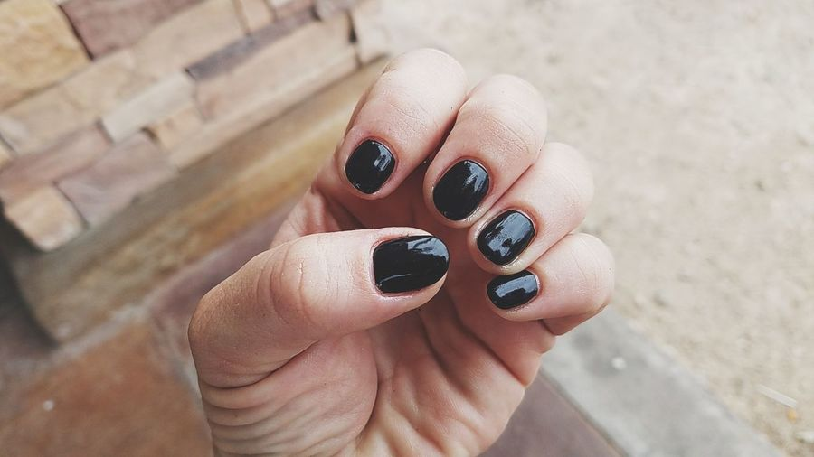 EyeEm Selects Manicure time. Human Body Part Human Hand Nail Polish Nail Art Human Finger Fingernail Manicure Outdoors Only Women Painting Fingernails Fashion Personal Perspective One Person