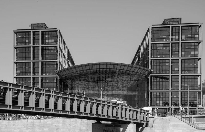 Bridge Against Tall Buildings