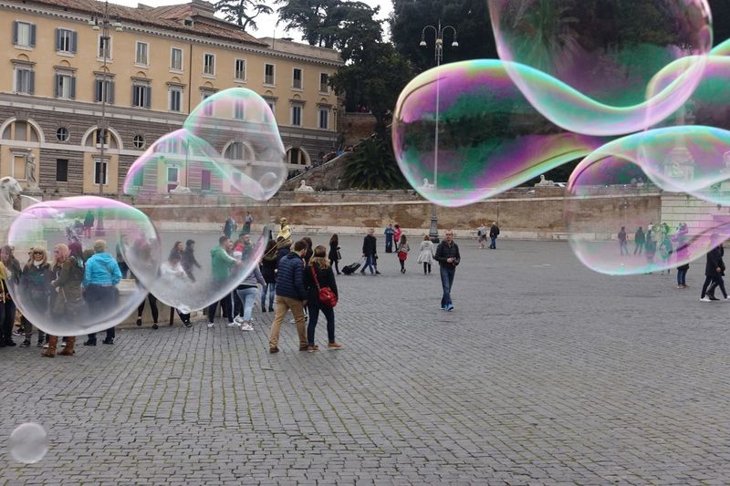 Bolle Di Sapone Piazza Rome Hello World Hi! Taking Photos Nikon Travel Photography Vacanze