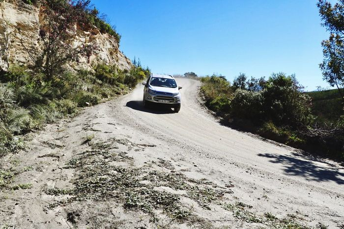 Transportation Car Dirt Road 4x4 Land Vehicle Off-road Vehicle Adventure Day Mode Of Transport Clear Sky No People Road Nature Outdoors Mountain Tree Sky Ford Ford Ecosport Knysna South Africa