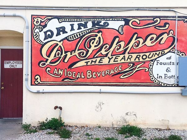 Dublin Dr Pepper Texas Dr Pepper Texas Dr Pepper Dublin Bottling Co Signs Bottling Plant Advertising Bottling Company Advertisement Streetphotography Street Photography Streetart Street Art Beverage Architecture Building Exterior Roadside America The City Light Text IPhone IPhoneography Brick Building Roadside Shots Minimalist Architecture Art Is Everywhere