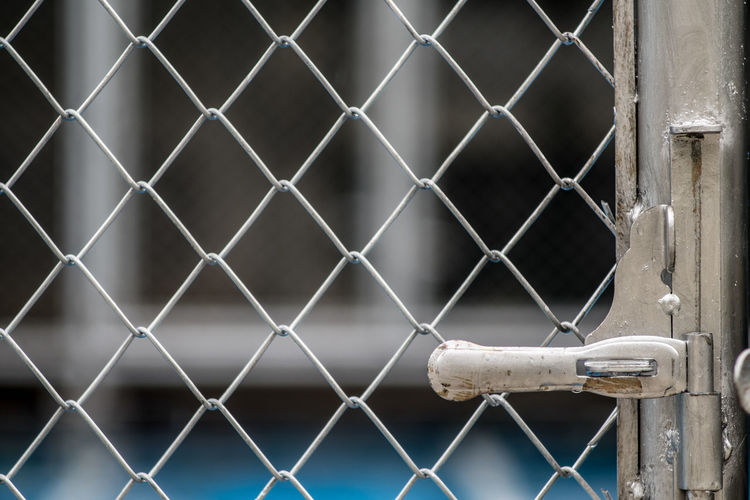 Backgrounds Chain Chainlink Fence Close-up Closed Day Fence Focus On Foreground Forbidden Full Frame Gate Metal Metal Grate Metallic No People Outdoors Pattern Protection Safety Security