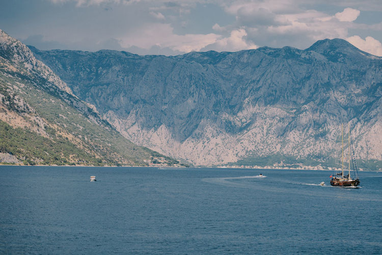 Beautiful sea bay with mountains view. Picturesque landscape. Montenegro EyeEm Best Shots Kotor Bay PERAST Summertime Travel Bay Beauty In Nature Beuty Of Nature Day Kotor Landscape Montenegro Mountain Nature No People Outdoors Picturesque Scenics Sea Summer Travel Destinations Water