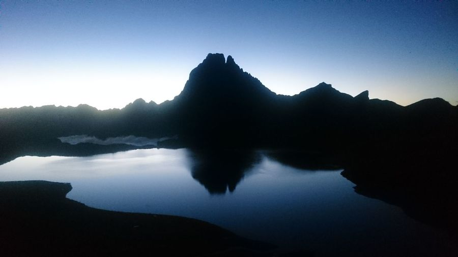 Lac D'ayous Mountain Sunrise Pyrenees Pyrenees National Park Lac Gentau Mirror Reflection Pic Du Midi D'ossau Landscapes