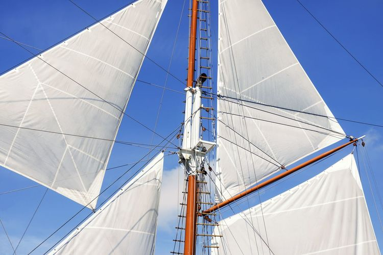 Sails Mast Boat Sea Transport Wind Sailboat Sailing Ship Sailing Vessel Travel Equipment Old Fabric