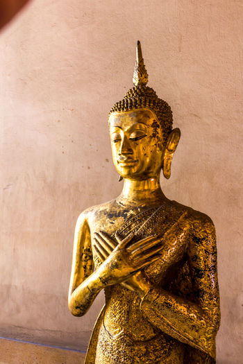 Sculpture of buddha statue at temple