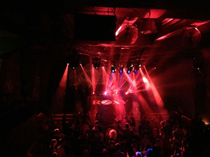Arts Culture And Entertainment Enjoyment Large Group Of People Event Nightlife Indoors  Illuminated Person Crowd Music Togetherness Men Atmosphere Leisure Activity Celebration Red Fun Lifestyles Lighting Equipment Light - Natural Phenomenon Roxy Prag