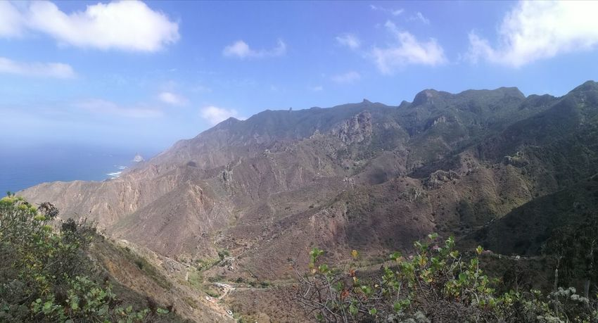 Cloud - Sky Outdoors Sky Nature Landscape No People Day Mountain Panoramic Canary Islands Tenerife Tourism Taganana Travel Destinations Vacations Horizon Over Water Tranquility