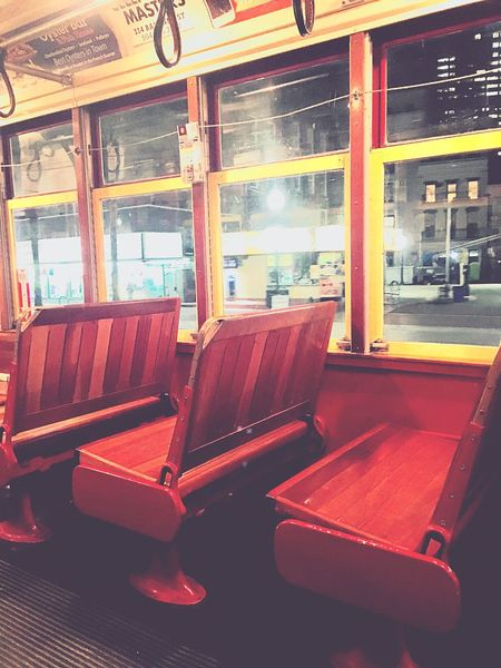 Street Car New Orleans No People New Orleans Window Indoors  Chair Vehicle Seat No People Empty Seat Public Transportation Built Structure Architecture Transportation
