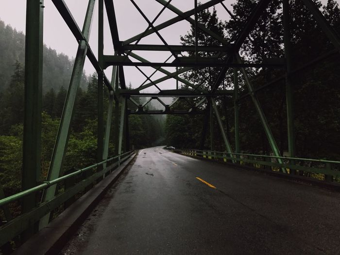 View Of Bridge Over Road In Forest